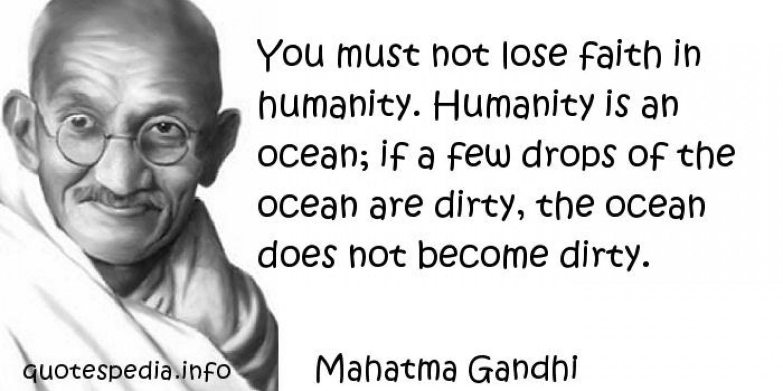 Gandhi - Humanise your Leadership
